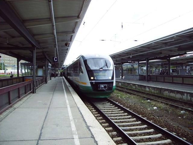Erster Vogtland-Express in Berlin-Lichtenberg