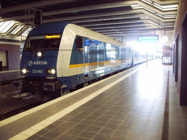 alex-VX bei Umleitung in Gesundbrunnen