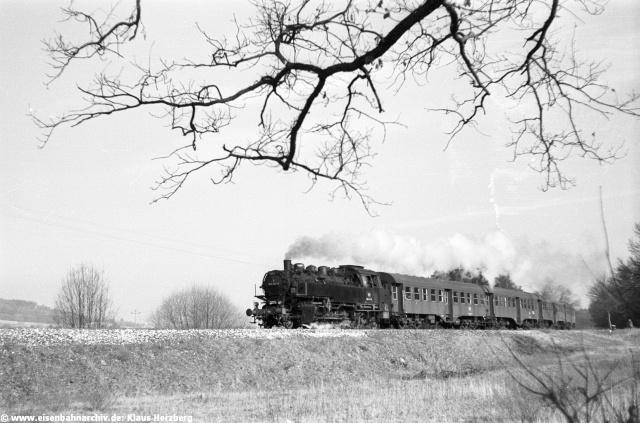 Und wieder war der Zug nach Beilngries unterwegs. Diesmal mit 86 543 bei Pollanten.