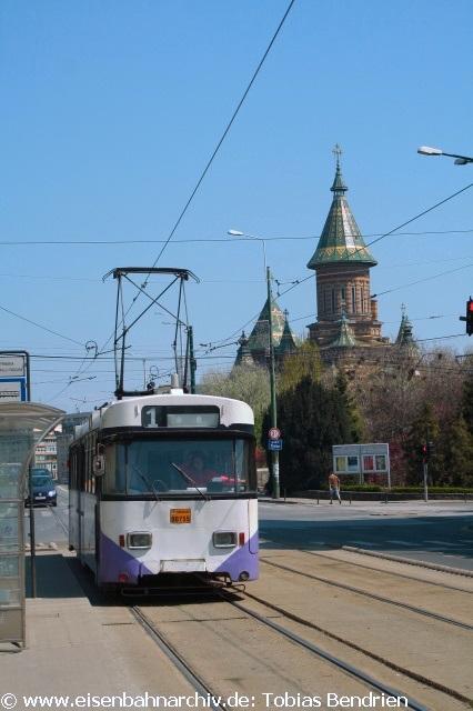 18.04.2011: ex Karlsruher in Timisoara (Linie 1).