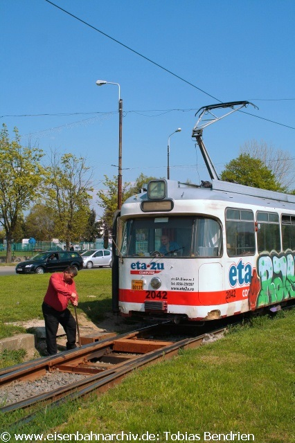 18.04.2011: 2729 = ex Münchner P - Wagen 2042 in Timisoara (Linie 4).