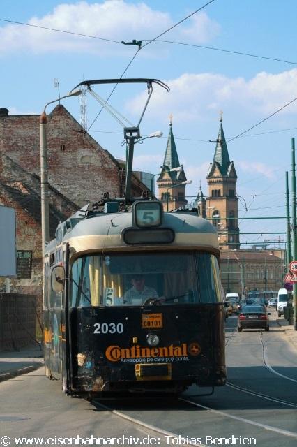 18.04.2011: ex Münchner P - Wagen 2030 in Timisoara (Ringlinie 5).