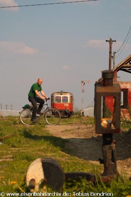 20.04.2011: Malaxa 952 im rumänischen Grenzbahnhof Jimbolia zu Serbien.