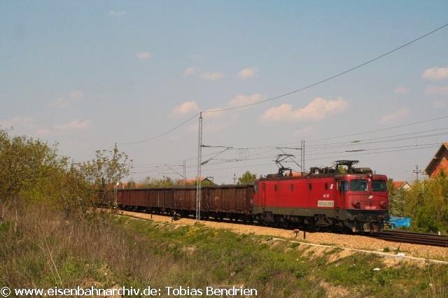 21.04.2011: 461 - 207 mit Kohle aus Tuzla nach Belgrad in Ruma.