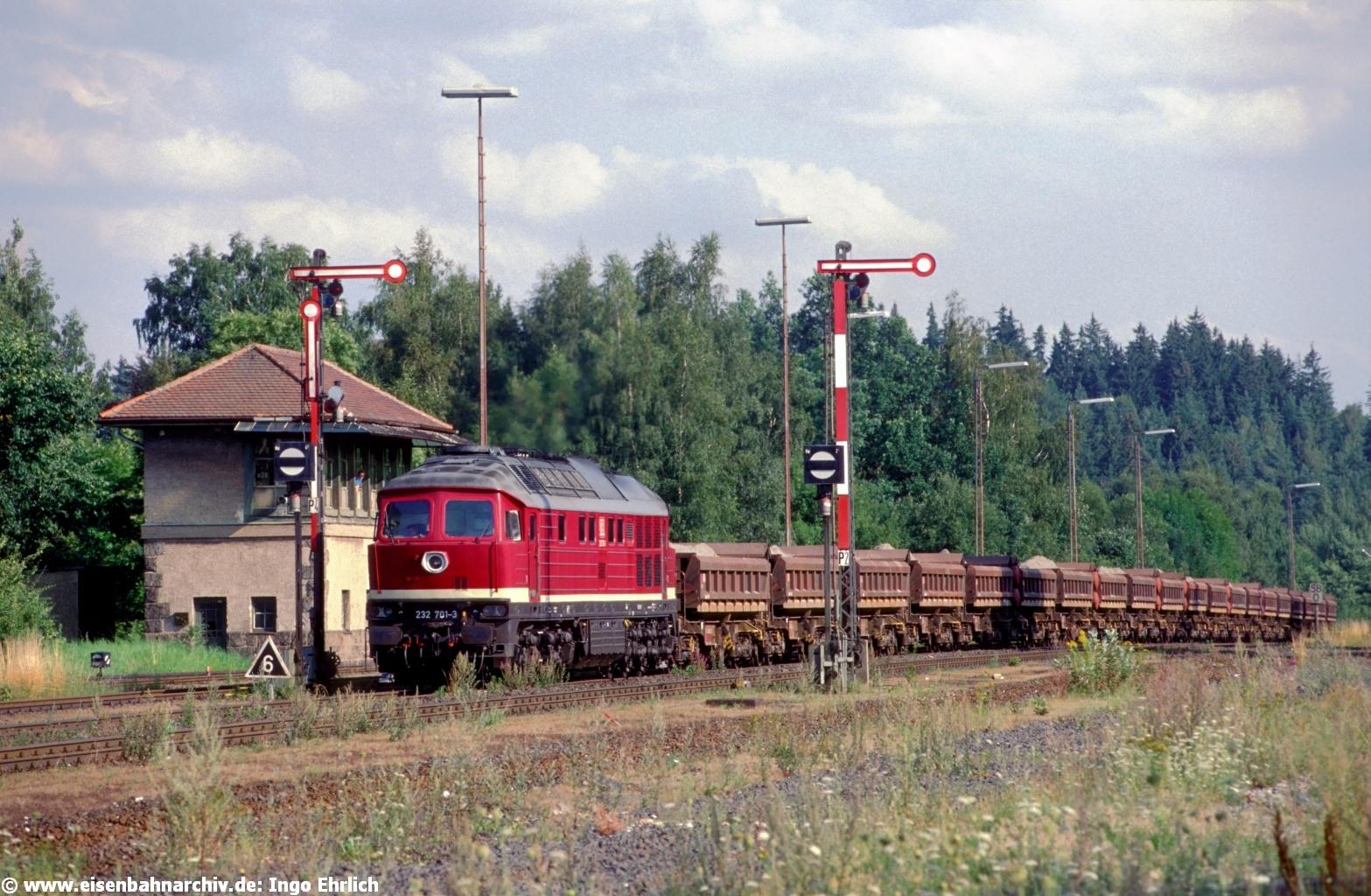 232 701 im September 1999 in Wunsiedel-Holenbrunn