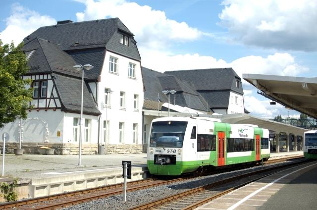 VT 107 der STB in Sonneberg Hbf