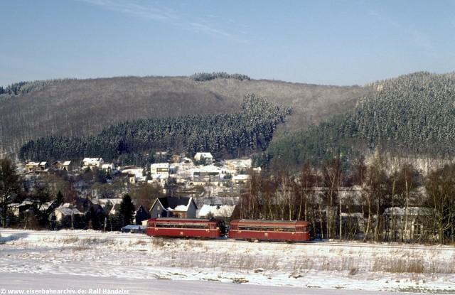 Schienenbus bei Herdorf