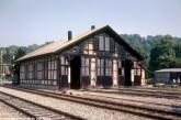 Am 5.08.1981 stand sogar noch der dreiständige Lokschuppen an der westlichen Banhofsausfahrt von Sigmaringen - die Dampflok-Ära war ja auch erst 5 Jahre vorbei