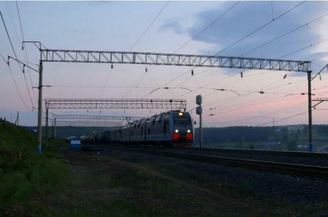 Bahnhof Widim kurz vor Mitternacht