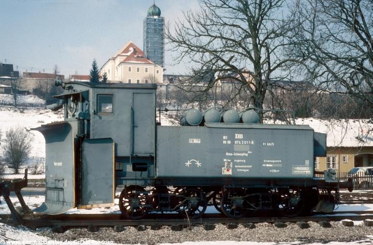 Schneepflug im Bahnhof Schongau