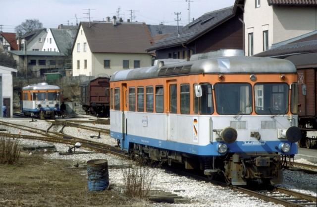 WEG Schmalspurbahnhof Laichingen am 30.03.1985