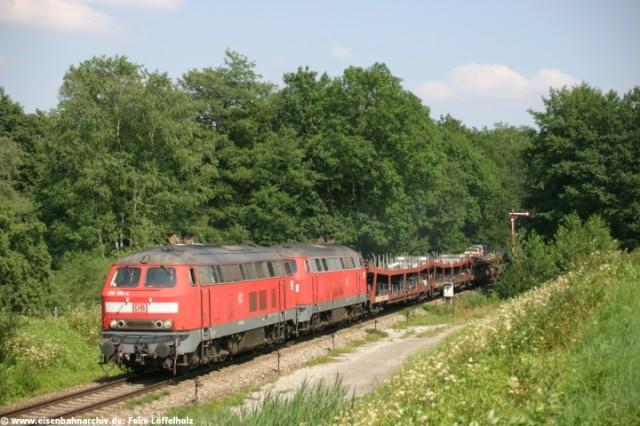 218 196 mit Autozug bei Enzisweiler