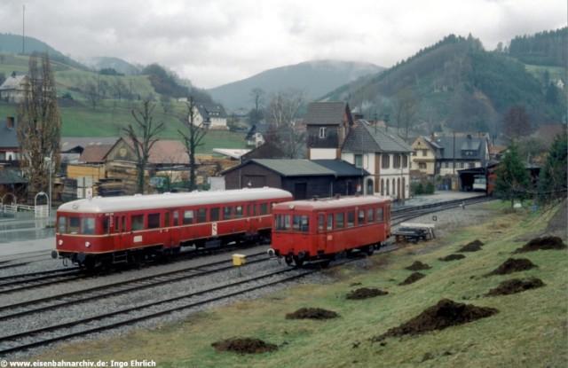 Endbahnhof Oberharmersbach am 24.03.1986