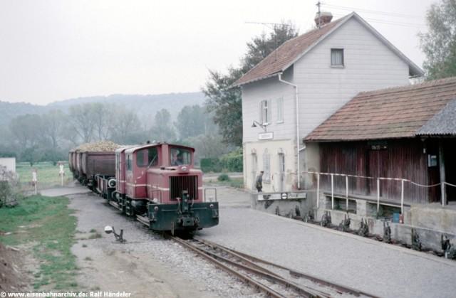 Rübenzug auf der Jagsttalbahn in Jagsthausen