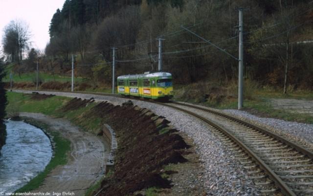 AVG Triebwagen bei Frauenalb-Schielberg