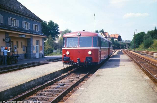 Bahnhof Eging mit Schienenbus