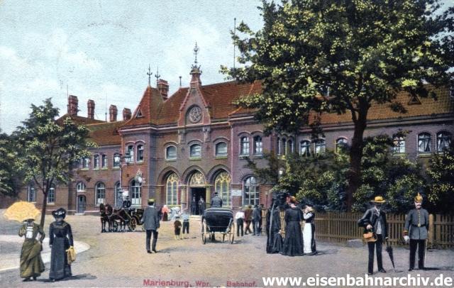 Bahnhof Marienburg 1915