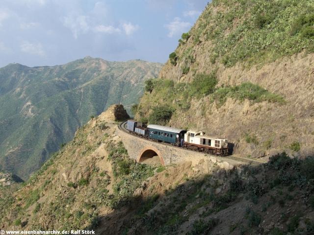 Zug kurz vor Asmara