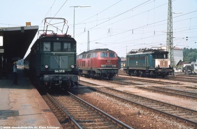 Bahnhof Lauda im August 1981