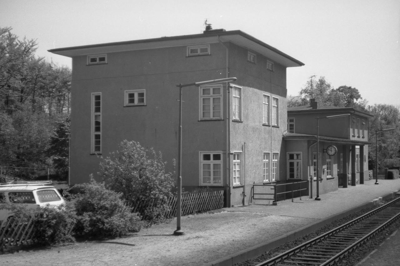 Bahnhof Hechthausen.