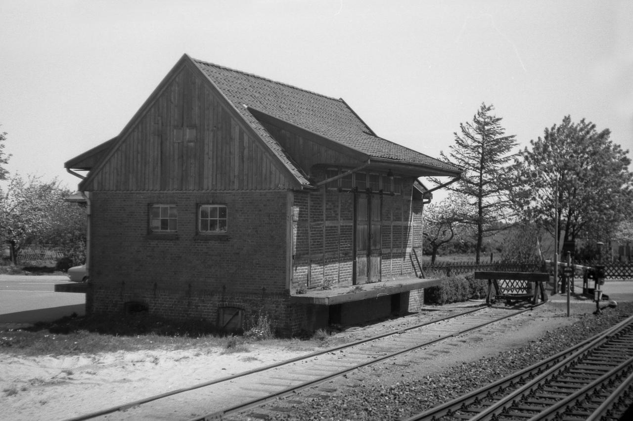 Güterschuppen des Bahnhofs Himmelpforten.