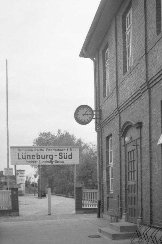 Der Bahnhof Lüneburg-Süd warzugleich Endpunkt der Strecke Lüneburg-Soltau.