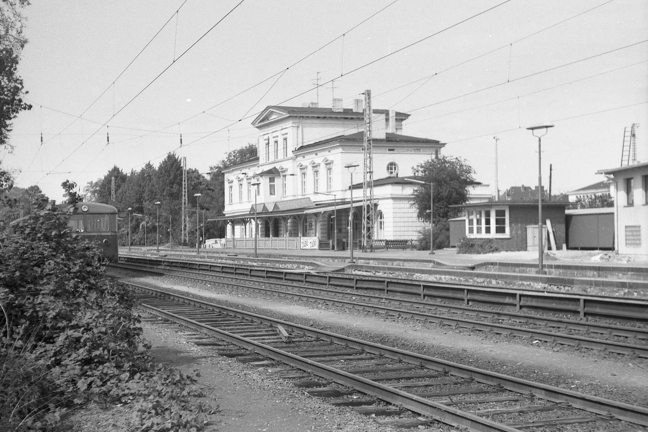 Das westliche Empfangsgebäude von Lüneburg.