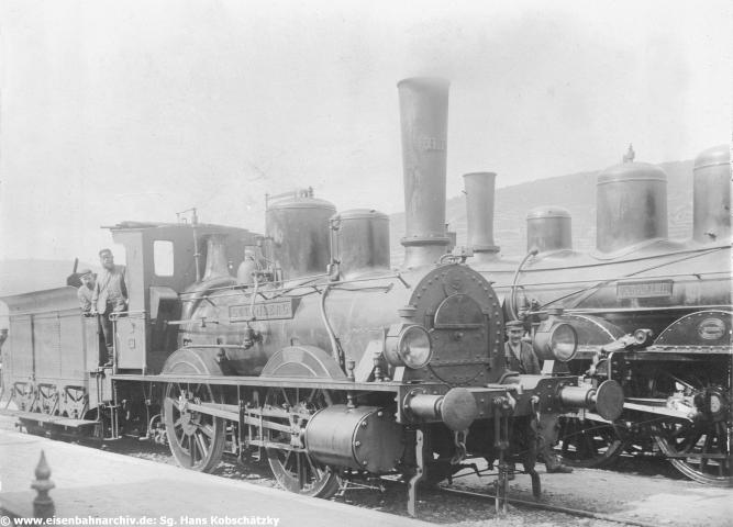 Hessische Ludwigsbahn Lok 5 mit Lokführer C.A. Zander