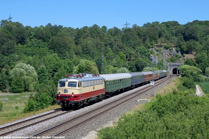 113 309 am 04.07.2019 vor Sonderzug Wien - München - Ansbach - Freiburg