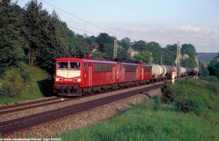 Dreifachtraktion mit Baureihe 155 am 10.05.2001