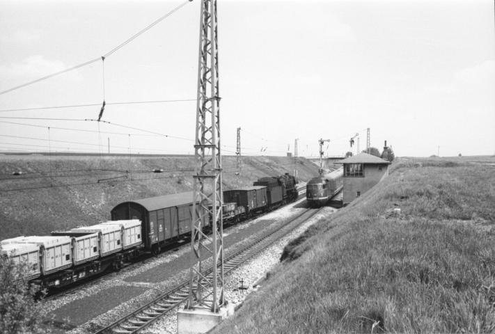 Überholung zwischen Eichstätt und Ingolstadt am 26.04.1962