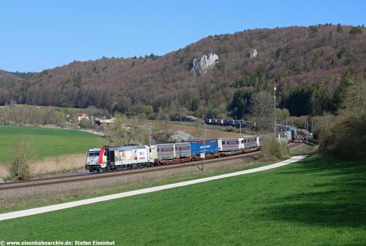 185 664 mit DGS 43822 auf dem Weg von Verona nach Bremen (18.04.2019)