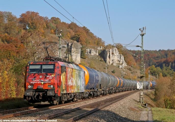 189 206 der SBB Cargo auf dem Weg von München nach Flörsheim (16.10.2018)